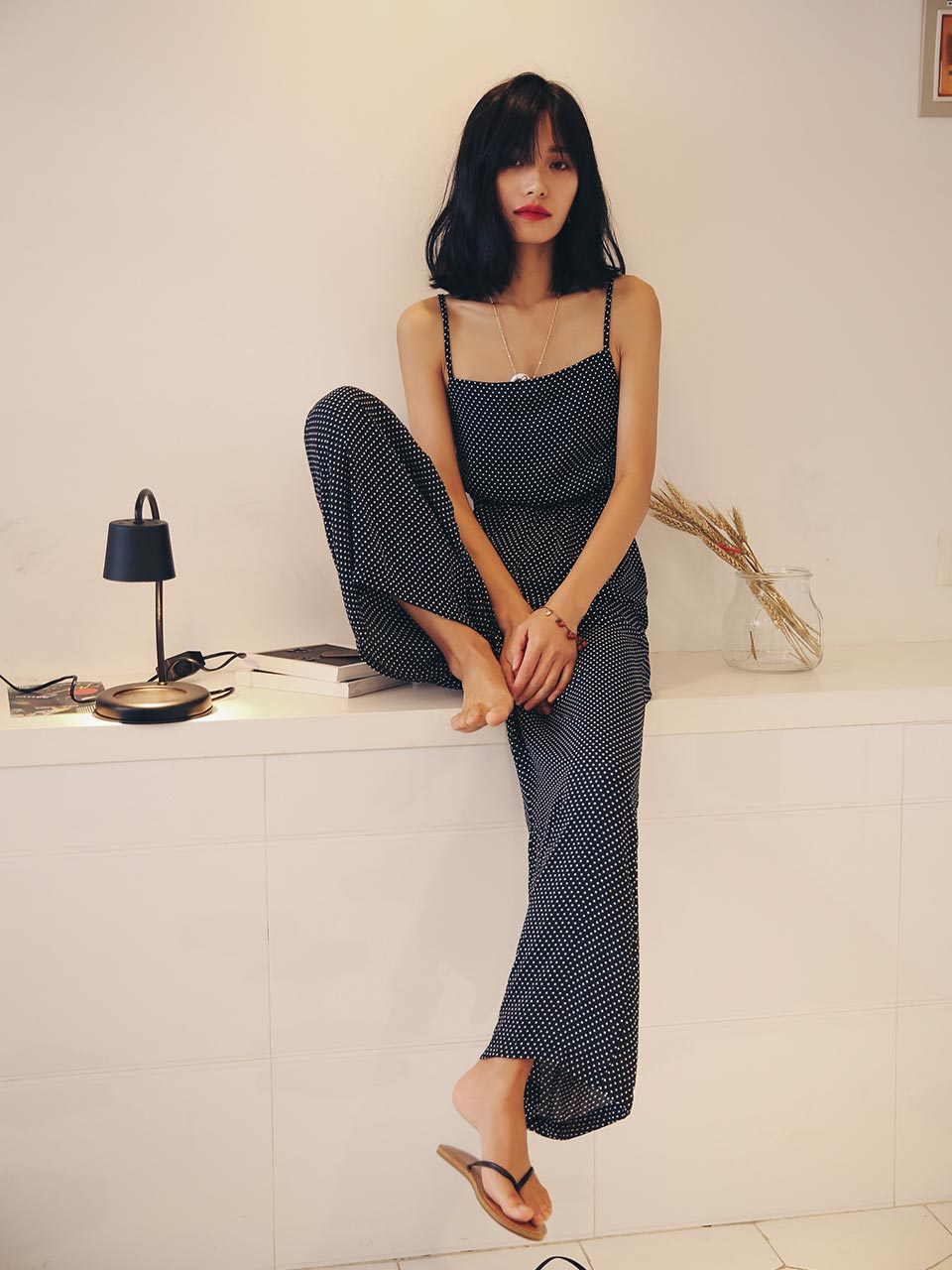 GUKAPolka Sleeveless Jumpsuit