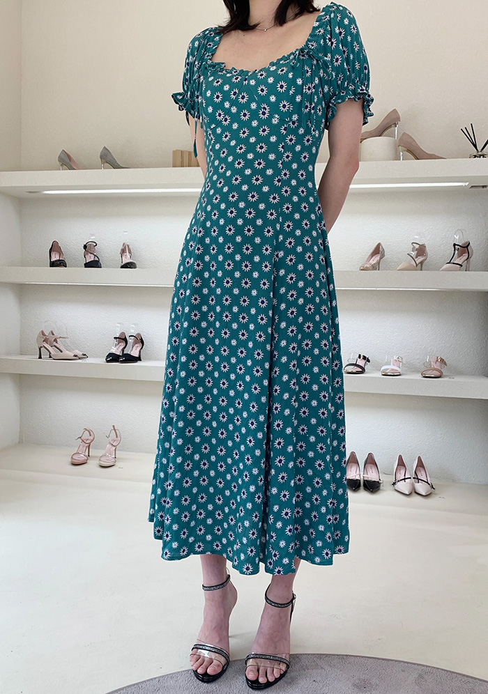 GUKAGreen Pearling Dress