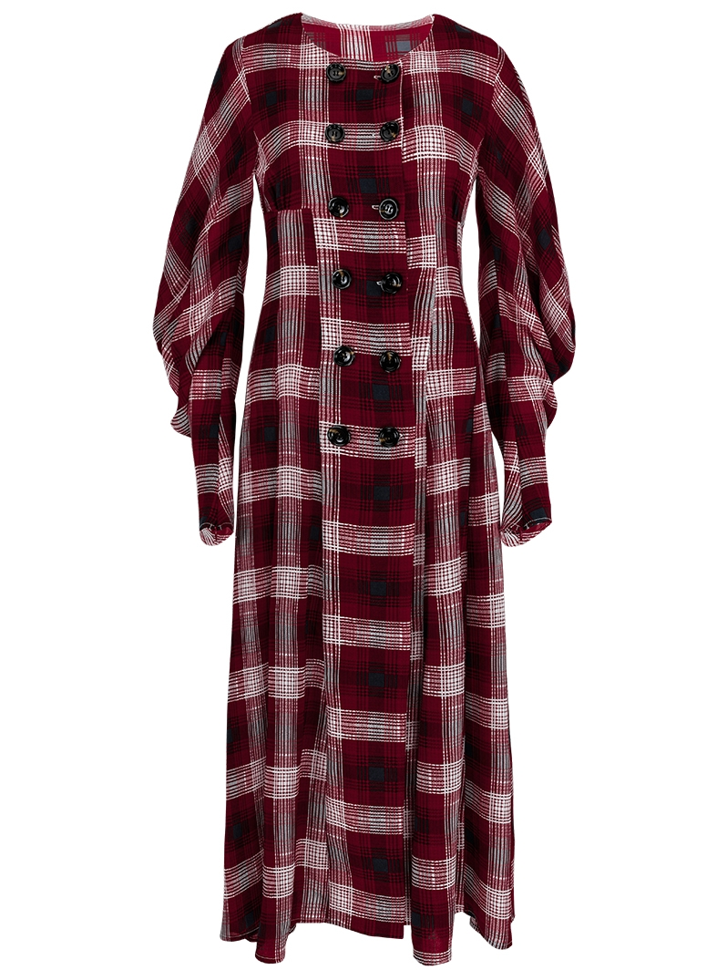 GUKAVelour Check Dress
