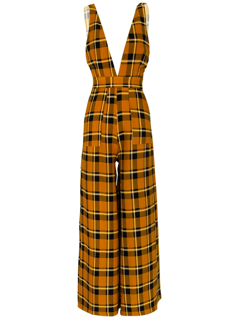 GUKASun Shine Plaid Jumpsuit
