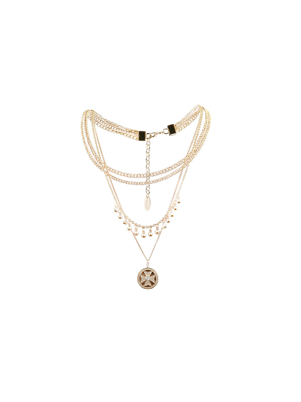 GUKAGold Clover Rayed Necklace