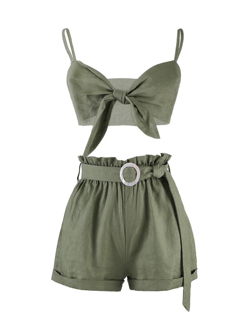 GUKAgreen linen two piece
