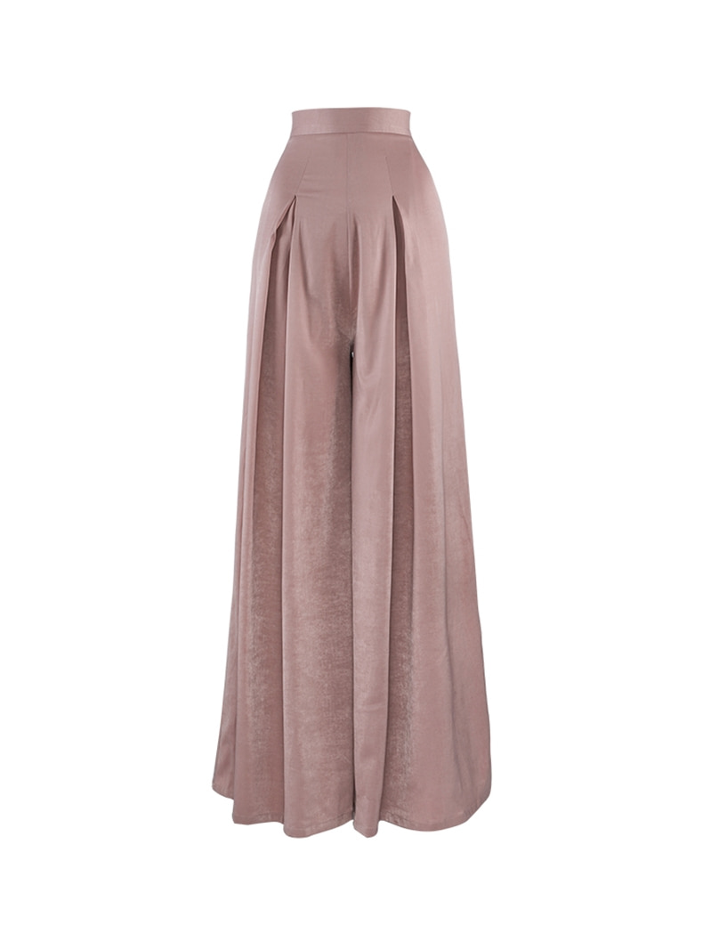 GUKAretro pink wide pants