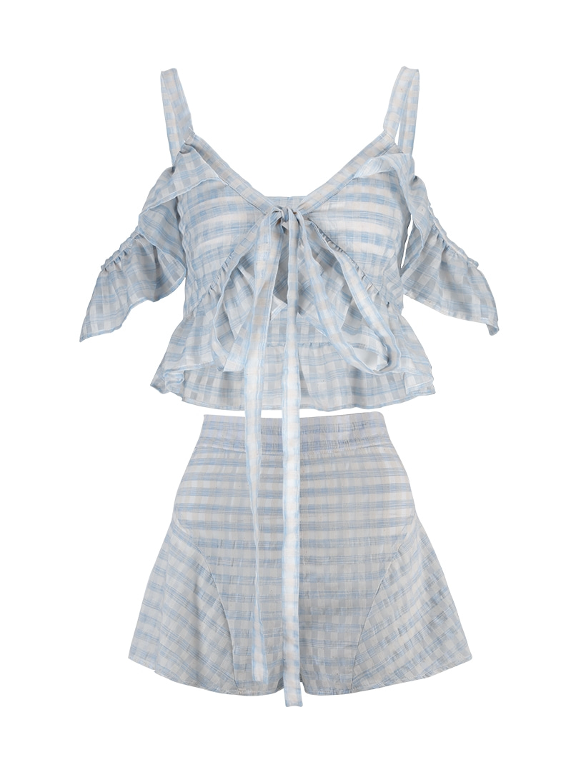 GUKArain check two-piece