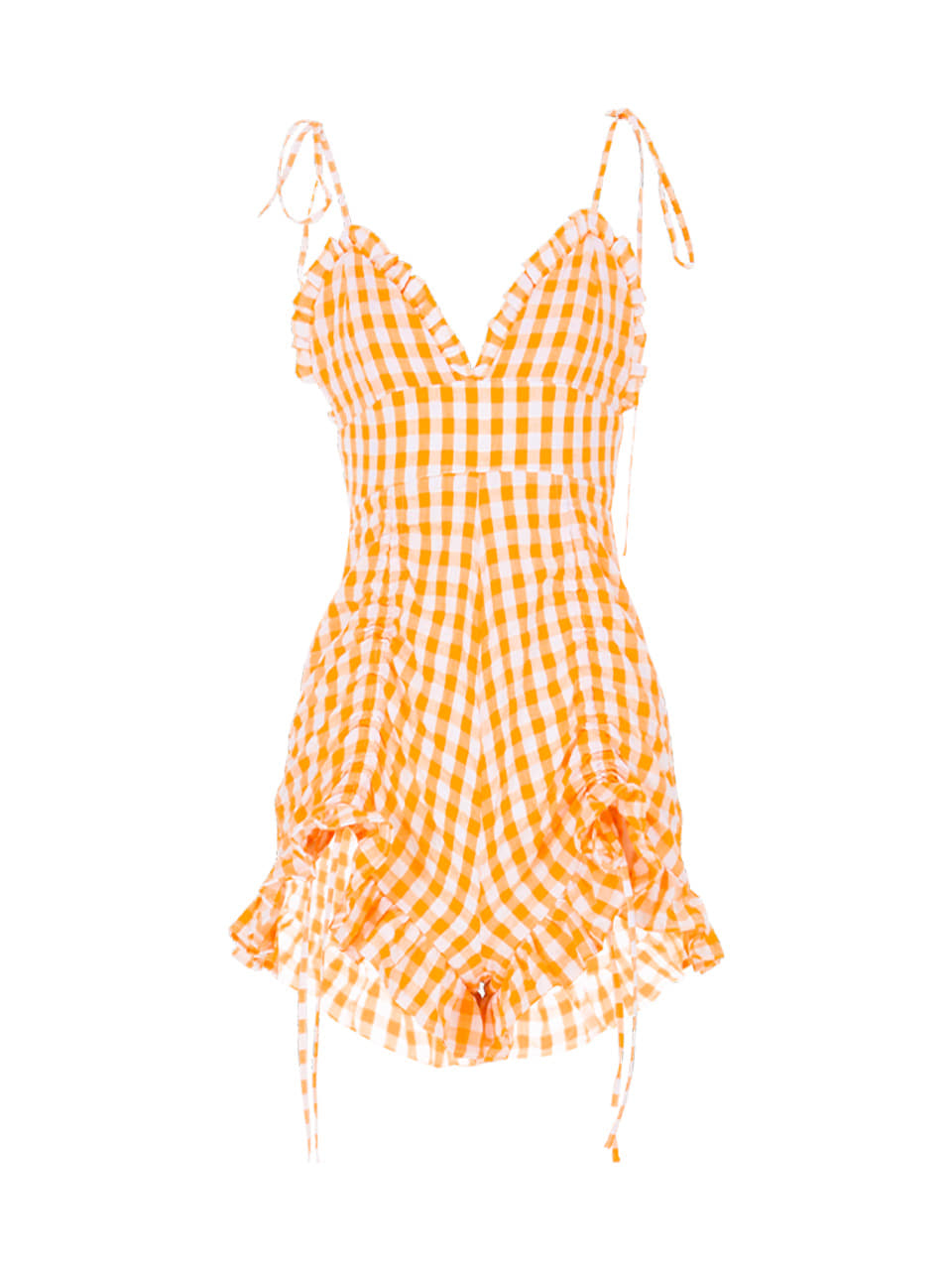 GUKASunny Orange Short Jumpsuit