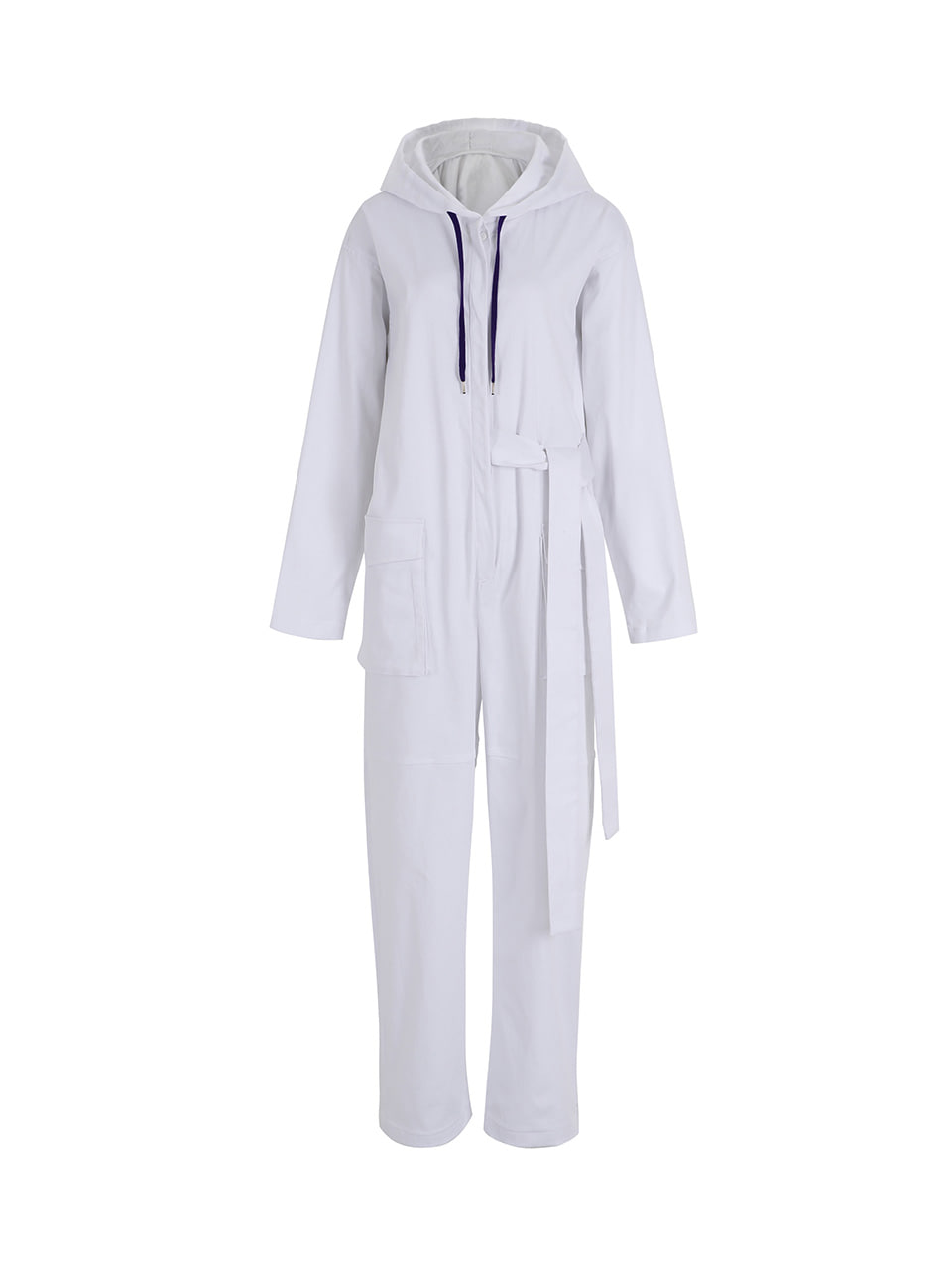 GUKAHooded jumpsuit -white