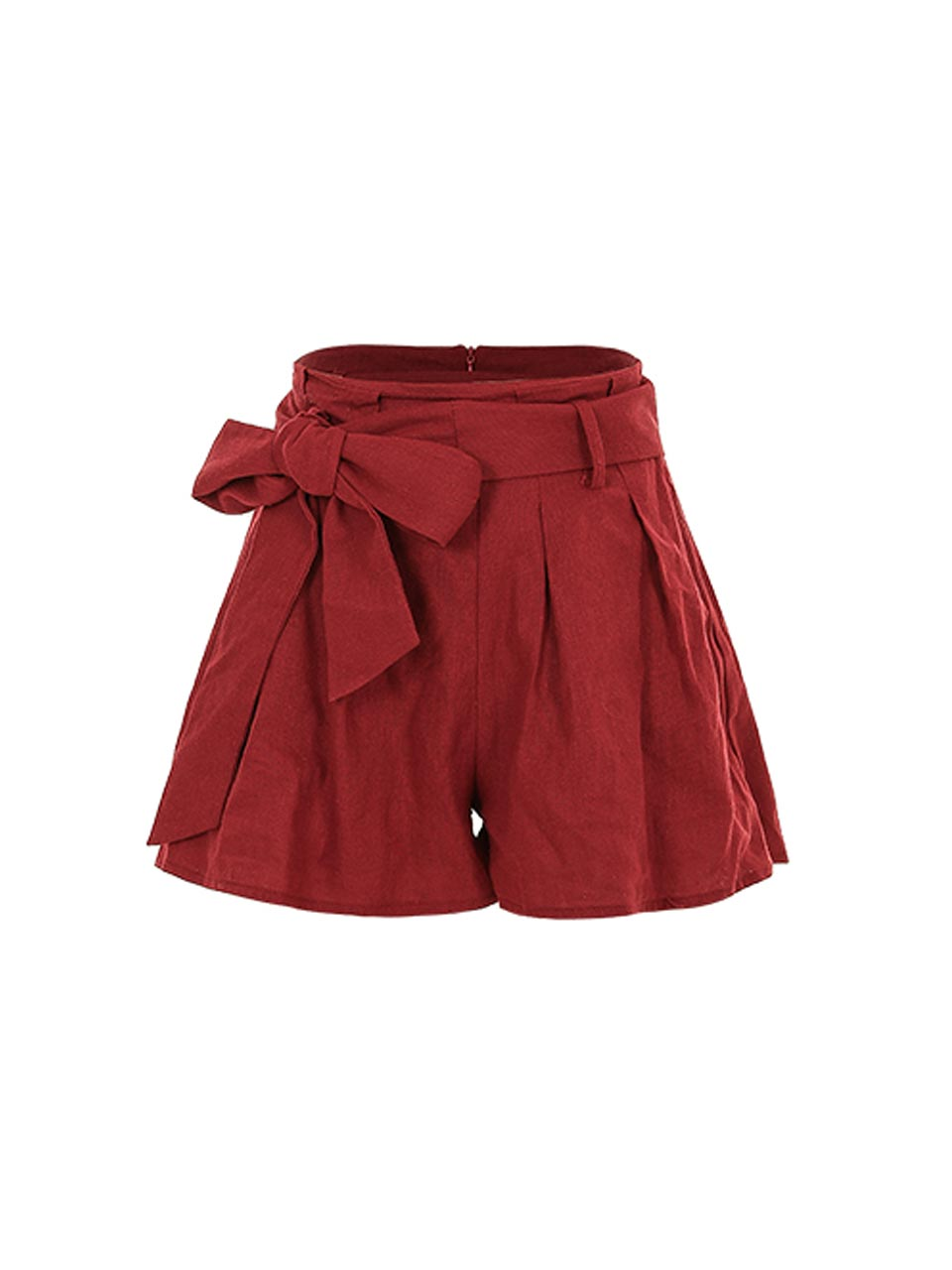 GUKAGhini Ribbon-Belt Short Pants
